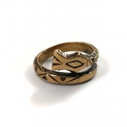 2733 Žalvarinis žiedas su Žalčiu Nr 2