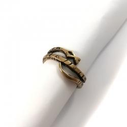 Žalvarinis žiedas su Rožiniu Kvarcu