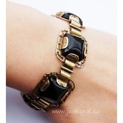 1927 Brass bracelet with Onyx