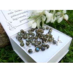 Silver Rosary with Labradorite [R035]