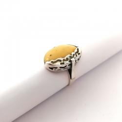 2782 Sidabrinis žiedas su Gintaru Ag 925
