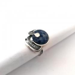 2783 Sidabrinis žiedas su Sodolitu Ag 925