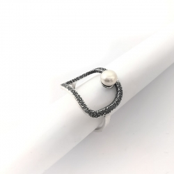 2784 Sidabrinis žiedas su Perlu Ag 925