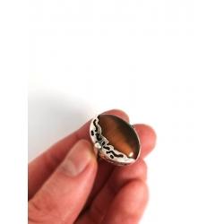 2787 Sidabrinis žiedas su Katės akim Ag 925