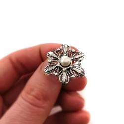 2790 Sidabrinis žiedas su Perlu Ag 925