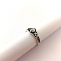 2792 Sidabrinis žiedas su Cirkoniu Ag 925