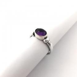 2793 Sidabrinis žiedas su Ametistu Ag 925