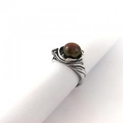 2795 Sidabrinis žiedas su Katės akim Ag 925