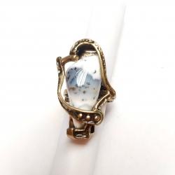 Žalvarinis žiedas su Agatu