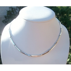 454 Silver hoop necklace from links (flexible) Ag 925