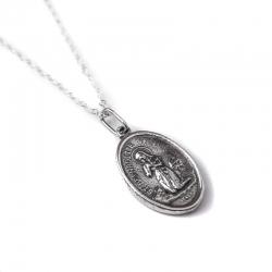 Sidabrinis Medalionas Šv. Bernadeta [KM16]