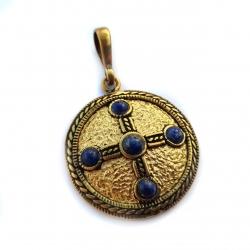 """3077 Žalvarinis Medalionas """"Kabutis"""""""