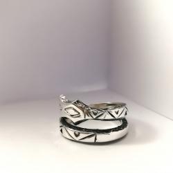 3193 Sidabrinis žiedas su Žalčiu Nr 2 Ag 925