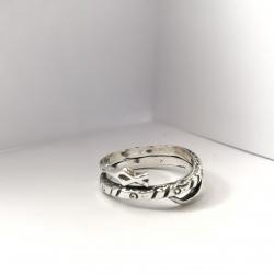 3194 Sidabrinis žiedas su Žalčiu Ag 925