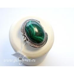 520 Sidabrinis žiedas su Malachitas Ag 925