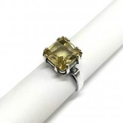 3269 Sidabrinis žiedas su Citrinu Ag 925